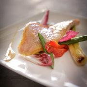 Restaurant Le Pantographe, plat à base de poisson