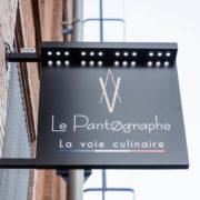 Restaurant Pantographe enseigne extérieure