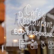 Restaurant Pantographe vitre café restaurant extérieure