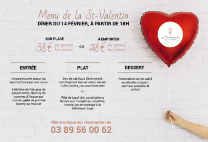 menu saint valentin mulhouse