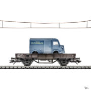 MyLittleRedCar wagon bleu