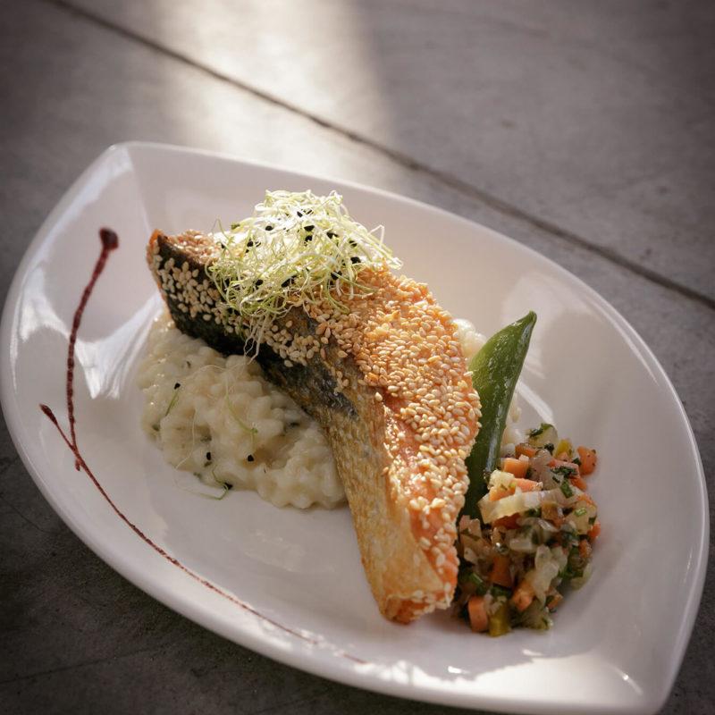 Restaurant Pantographe, plat au saumon