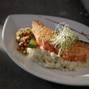 Restaurant Le Pantographe, plat à base depoisson